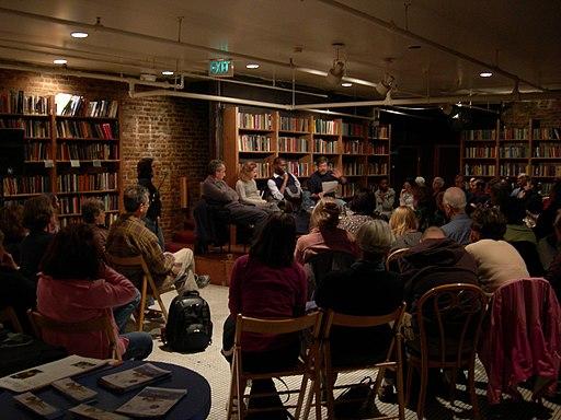 author reading public speaking